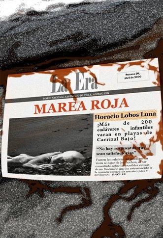 """Portada """"Marea Roja"""" (novela terror). Horacio Lobos Luna, 2008."""