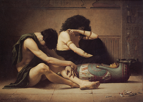 Charles Sprague Pearce 1877 lamentacion x la muerte del primogenito