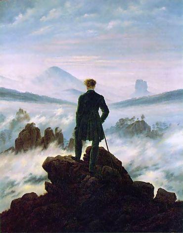 """Caspar David Friedrich, """"El viajero contemplando un mar de nubes"""""""