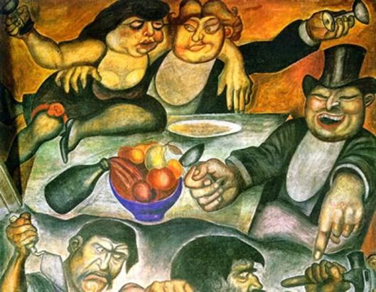 Orozco - El banquete de los ricos