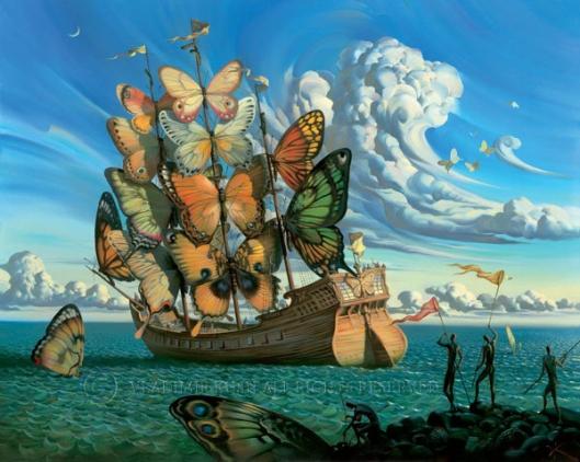 "Vladimir Kush. ""Departure of the Winged Ship"""