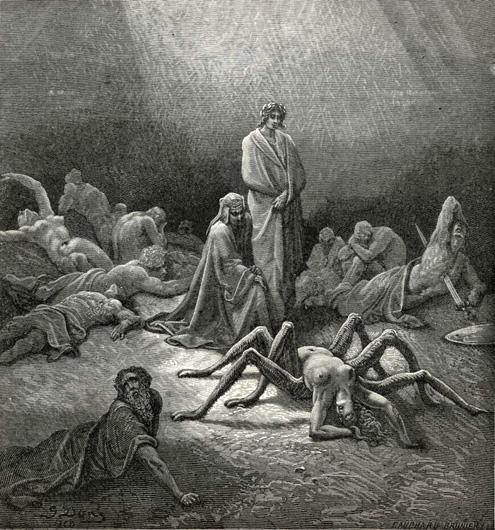 "Gustave Doré. ""Dantes's Purgatory"""