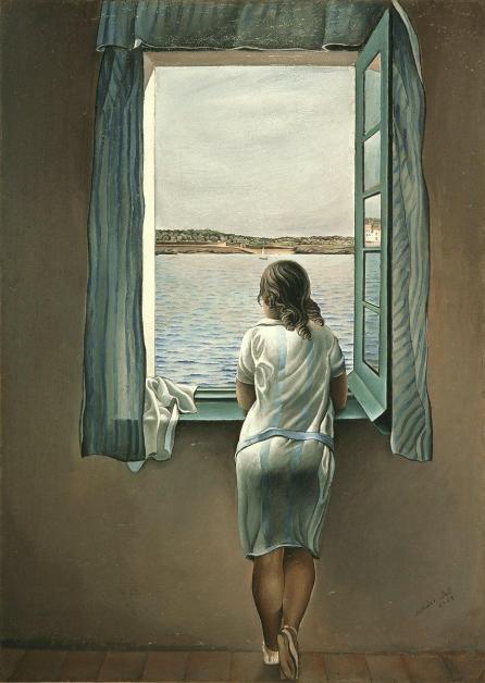 """Salvador Dalí.  """"Muchacha en la ventana"""""""
