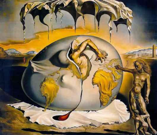 """Salvador Dalí.  """"Niño geopolítico observando el nacimiento del hombre nuevo"""""""