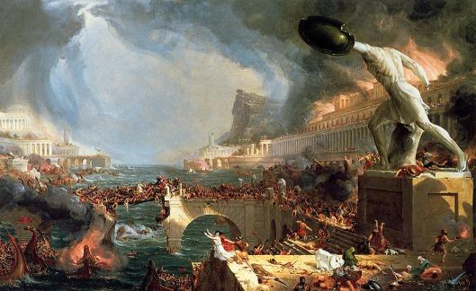 """Thomas Cole. """"El ciclo del imperio. Destrucción"""""""