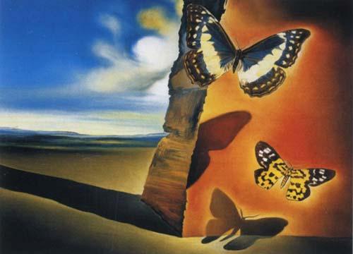 "Salvador Dalí. ""Paisaje con mariposas"""