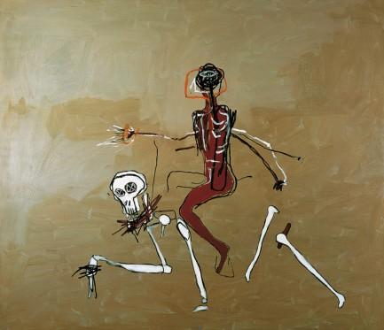 """Cablagando con la muerte"". Jean-Michel Basquiat"