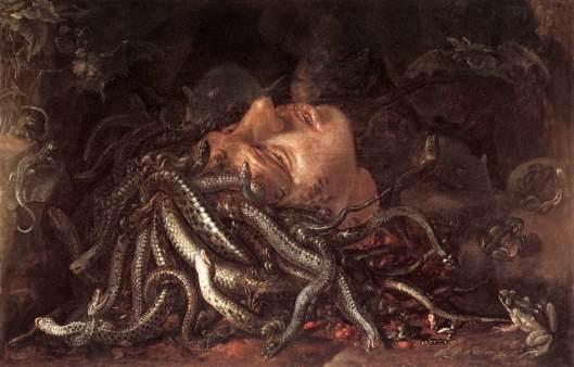 """""""Cabeza de Medusa"""" (Galería de los Uffizi)"""