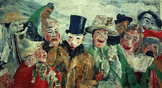 """The Intrigue"". James Ensor"