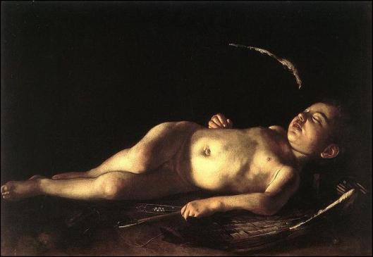 """Caravaggio. """"Cupido durmiendo"""""""