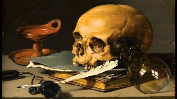 "Pieter Claesz. ""Still Life with a Skull and a Writing Quill"""