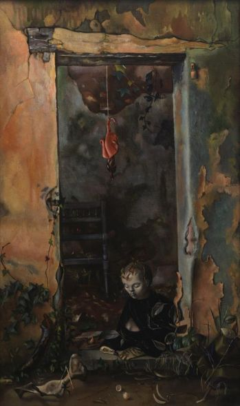 "Leonor Fini. ""Little Hermit Sphinx""."