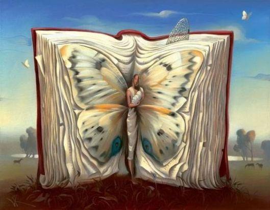 "Salvador Dalí. ""Mariposa-madre en un libro""."